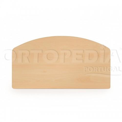 Cama hospitalar articulada manual cabeceiras em madeira melamina
