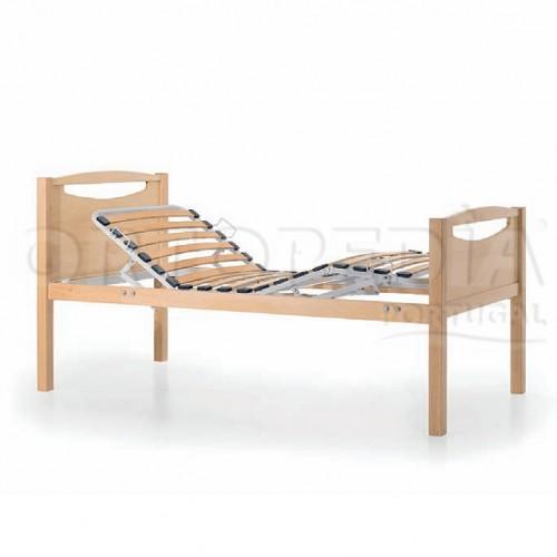 Cama articulada manual em madeira Faia